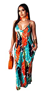 Colorful Leaves Sundresses