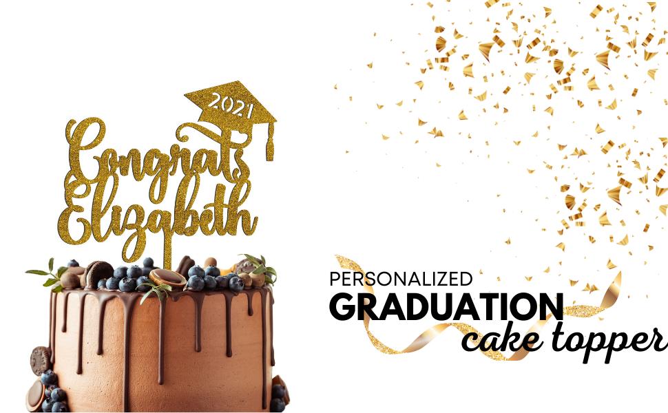 graduation cake topper 2021 grad personalized custom