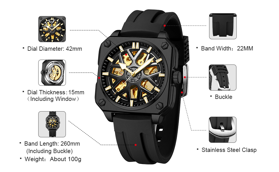 mechanical automatic watch for men