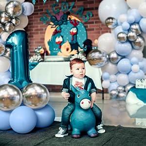 macaron blue white balloon garland arch kit baby shower decorations birthday parties supplies