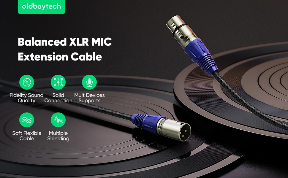 Oldboytech xlr cable(male to female)