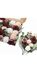 DerBlue Artificial Roses Flowers