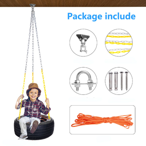 Tire Swing Accessories Set with Plastic Coated Chains