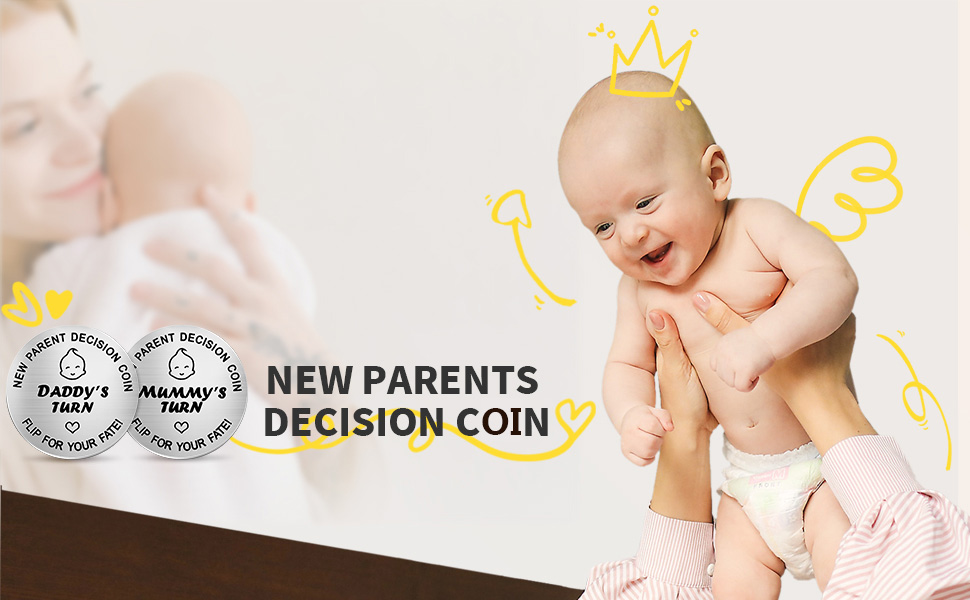 New Dad Mon Gifts Decision Coin