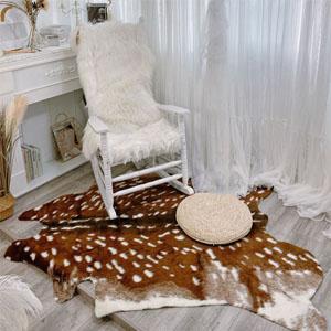 faux hide rug