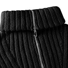 Conmite Mens 1/4 Zip Turtleneck Pullover Sweater Casual Basic Knitted Slim Fit Sweatershirts