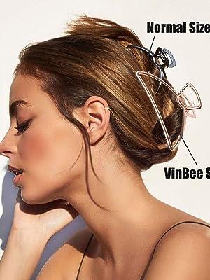 Vinbee big size metal hair claw