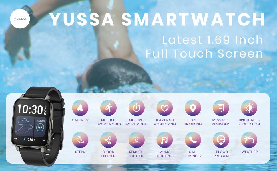 Yussa smartwatch 1.69 inch full touch screen