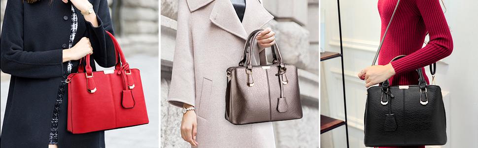 handtaschen damen PU Leder Gut Gestaltete Groß Handtaschen Damen Mode Elegant Mhängetasche