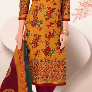 Miraan Cotton Printed Readymade Salwar Suit For Women SPN-FOR1