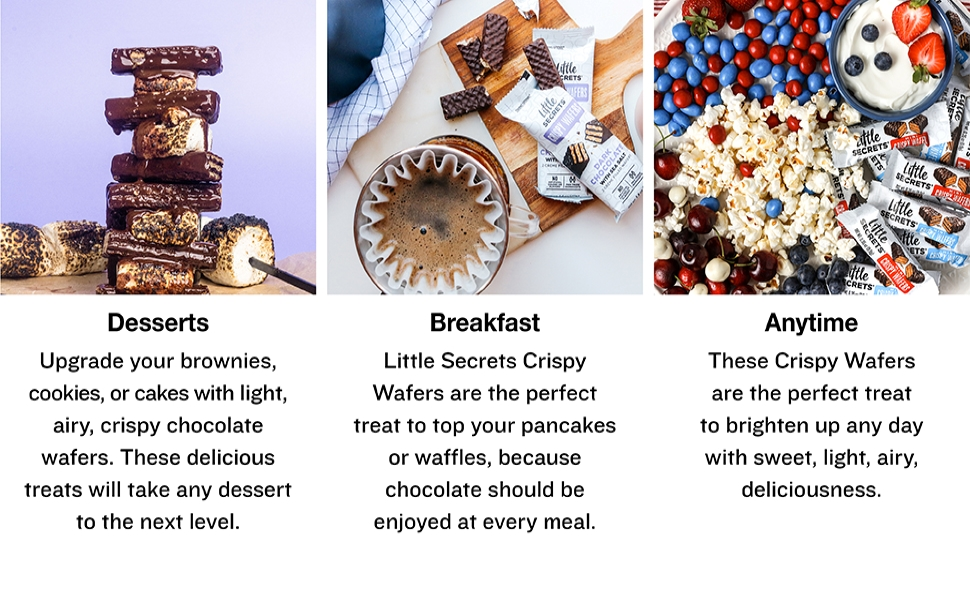 Little Secrets Wafers perfect for Desserts, Breakfast, Anytime