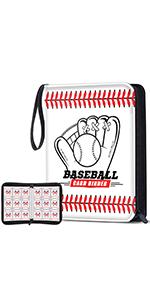 white baseball binder