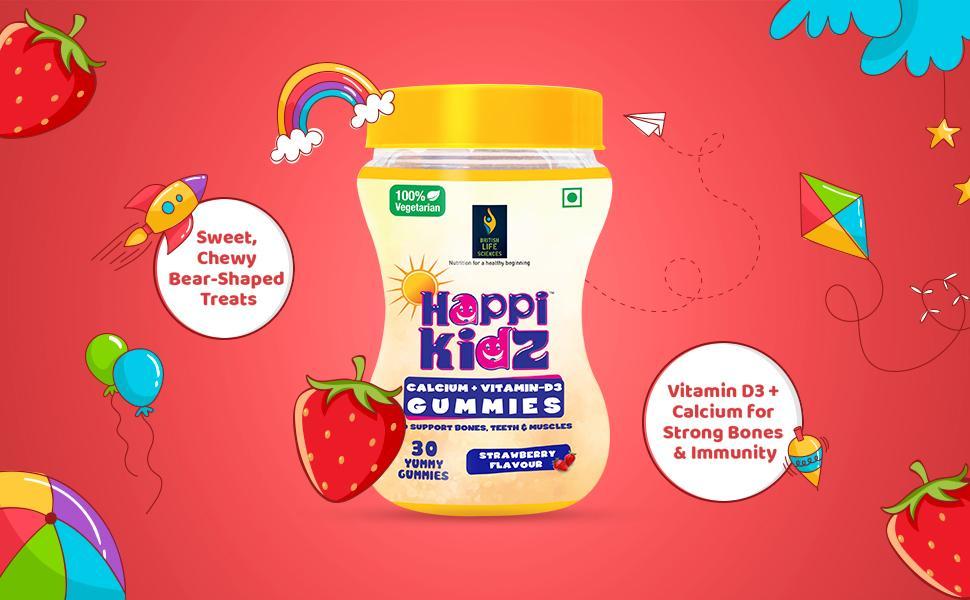 Happikidz Calcium and Vitamin D Gummies