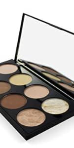 ultra contour palette bronzer highlight matte glitter variety shades