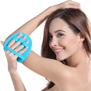 Silicone Body Scrubber Shower Exfoliating Bathing Shower Brush