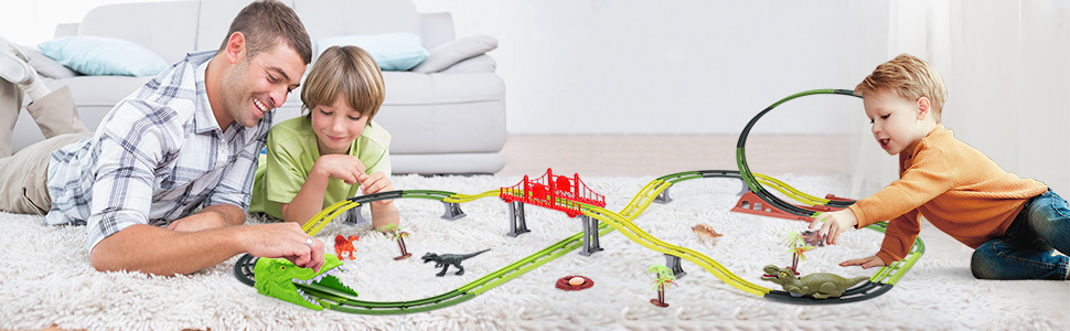 Dinasors Race Track Toys Dinosaur Toys Dinosaur Car Race Track Toy Set Dinosaur Tracks