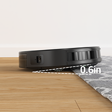 The robot vacuum obstacle crossing height reaches 0.6 inch, clean to all corners of the house