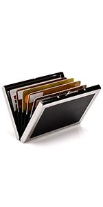 Metal with PU Leather credit card holder