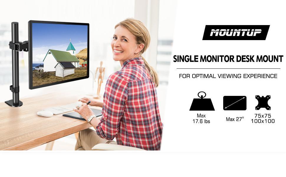 MOUNTUP Single Monitor Mount