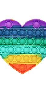 push pop bubble fidget sensory toy, Silicone Tie-dye Push pop Bubble Rainbow
