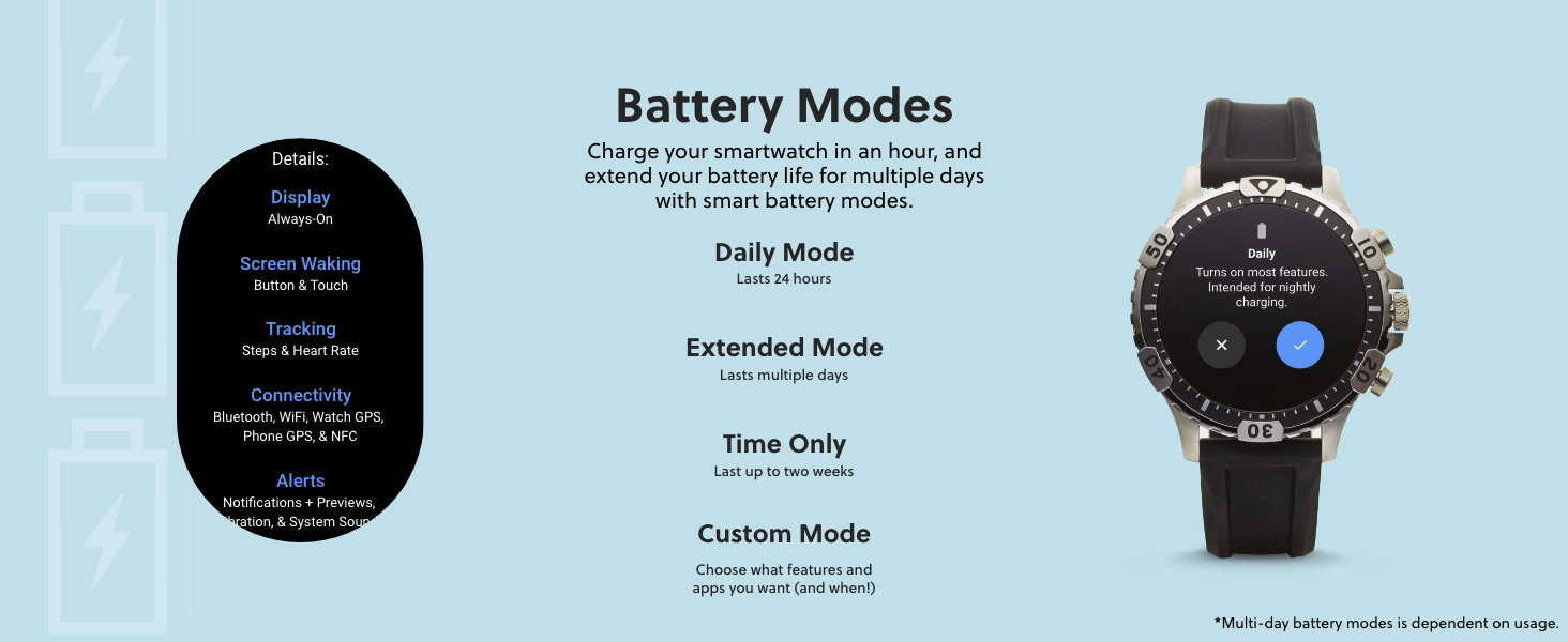 Fossil Gen 5 Battery Modes