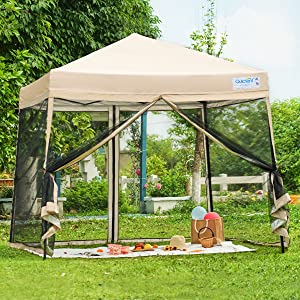 pop up canopy with mosquito net
