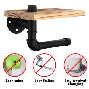 300 300 1 pipe toilet paper holder with shelf
