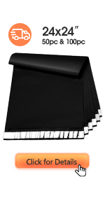 Metronic Large Poly Mailers 24x24 Black