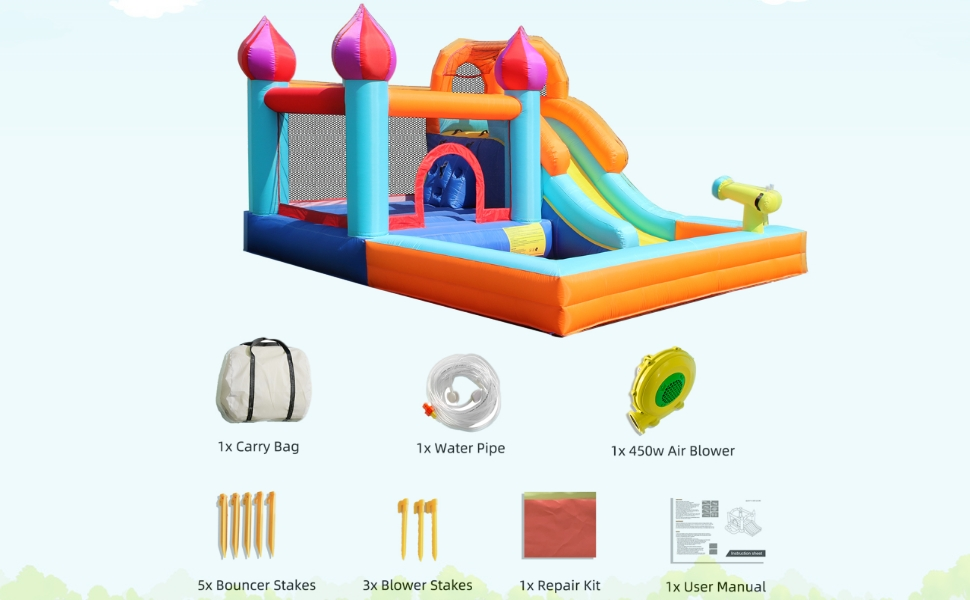 inflatable water park - package list