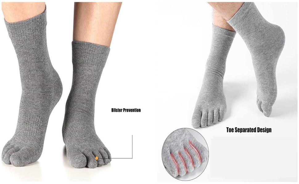 mens toe socks five finger separated