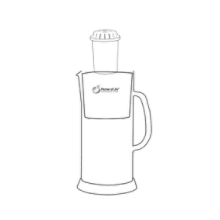 Alkaline Water Glass Pitcher of Life Easy Setup Guide Step2