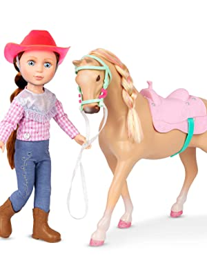 Jaime jumper 14-inch glitter girls doll accessories clothes plush equestrian toy horse stable