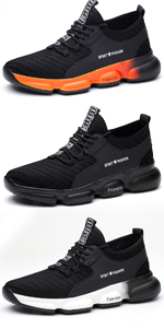 mesh upper steel toe sneakers