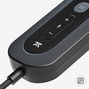 custom tuned 7.1 surround sound card full volume control media control music video virtual