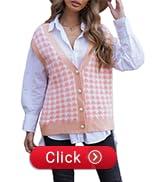 womens v neck jumper vest