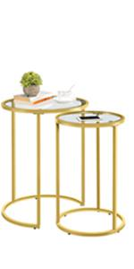 Gold Nesting Side Tables