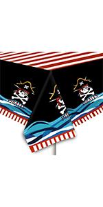 2 Packs Halloween Pirate Tablecloths