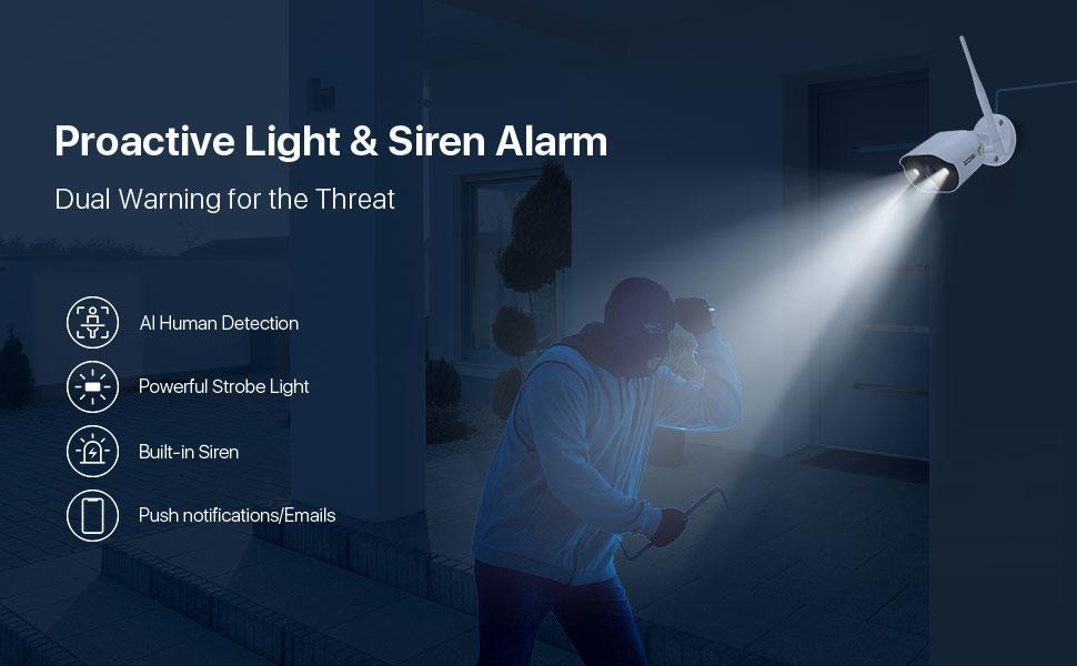 SpotLight & Siren Alarm