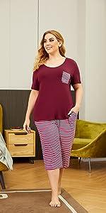 plus size pajamas sets