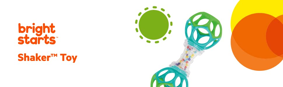 oball o ball easy to grasp shaker rattle toy teether soother