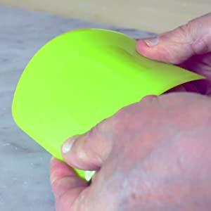 Anti-Rutsch Teigkarte Silikon Scharfe Kante Ecken Silikon Teigschaber SURDOCA Teigschaber Teigkarte Teigschneider Teigspachtel Teigschaberkarte 2 PCs BPA Frei PE-Kunststoff Flexibel Kuchenschaber