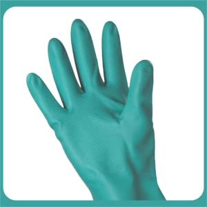 SAFEYURA Nitrile Solvent/Oil and Fat/Chemical Resistant Hand Gloves (size-Large)- 2 Pairs SPN-FOR1