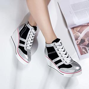 Silver High Heel Wedges