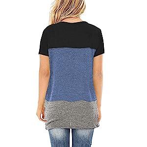 blue block women shirt