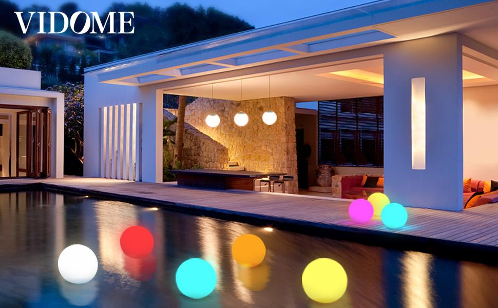 Floating Pool Lights with Timer, RGB Color Changing LED Pool Balls Lights IP67 Waterproof