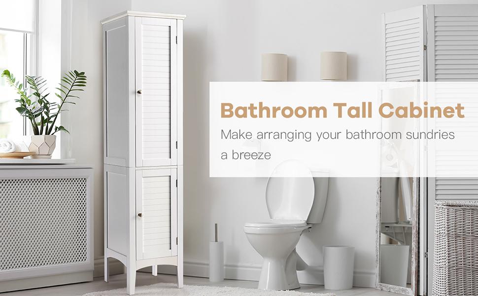 Bathroom tall cabinet