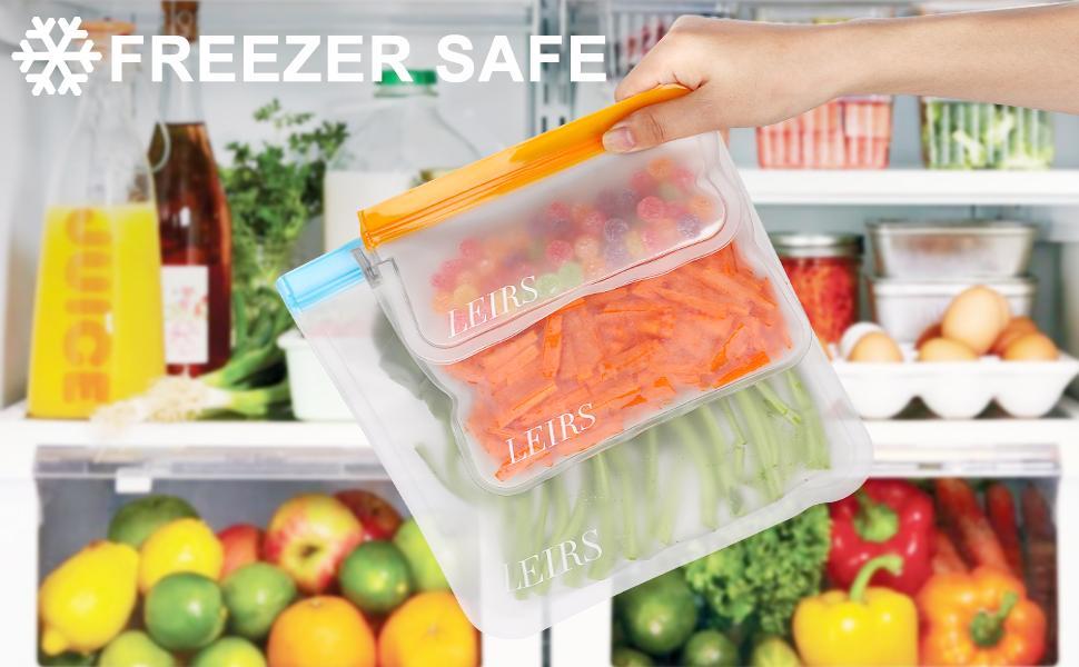 reusable gallon bags silicone
