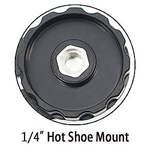 "1/4""Hot Shoe Mount"