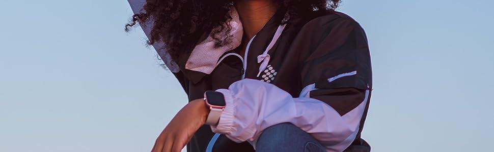 Ndur smartwatch with ndur jacket fitness tracking bluetooth