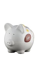 small sports piggy bank